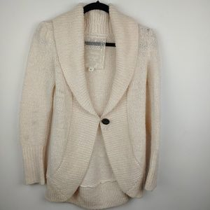 Sexy Guess Cream ivory open front cardigan sweater